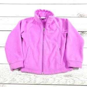 Kids Columbia fleece zip up sz XS (6) pink L10